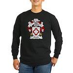Sousa Family Crest Long Sleeve Dark T-Shirt