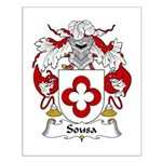 Sousa Family Crest Small Poster