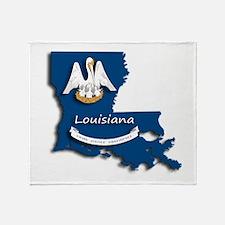 Louisiana State Pelican Flag Throw Blanket