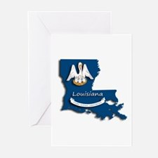 Louisiana State Pelican Flag Greeting Cards
