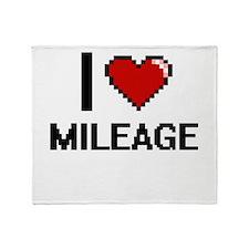 I Love Mileage Throw Blanket