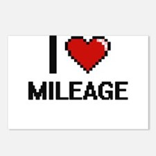 I Love Mileage Postcards (Package of 8)