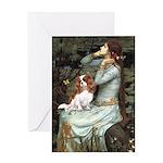 Ophelia & Cavalier Greeting Card