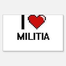 I Love Militia Decal