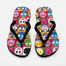 emoticon emojis Flip Flops