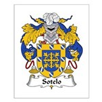 Sotelo Family Crest Small Poster