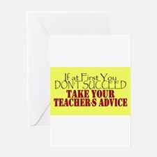If At First You Dont Succeed Take y Greeting Cards