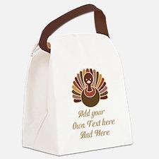 custom Thanksgiving Canvas Lunch Bag