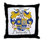 Soldevilla Family Crest Throw Pillow