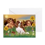 Angels & Cavalier Greeting Card