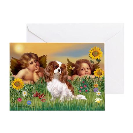 Angels & Cavalier Greeting Card
