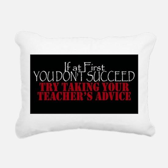If At First You Dont Suc Rectangular Canvas Pillow