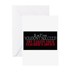 If At First You Dont Succeed Take T Greeting Cards