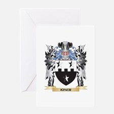 Kiser Coat of Arms - Family Crest Greeting Cards