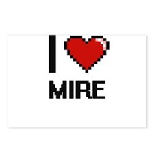 I Love Mire Postcards (Package of 8)