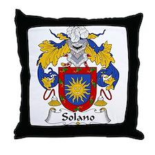 Solano Family Crest Throw Pillow