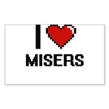 I Love Misers Decal