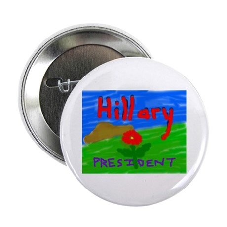 """Hillary President 2.25"""" Button (10 pack)"""