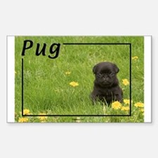 Pug-5 Rectangle Decal