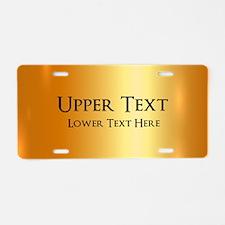 Custom Gold Aluminum License Plate