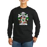 Serpa Family Crest Long Sleeve Dark T-Shirt