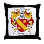 Semper Family Crest Throw Pillow