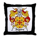 Seguro Family Crest Throw Pillow
