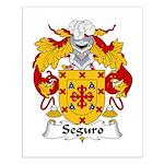 Seguro Family Crest Small Poster