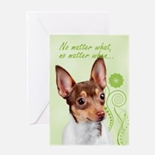 Toy Fox Terrier Love/support Greeting Cards