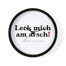 GERMAN - KISS MY ASS! Wall Clock