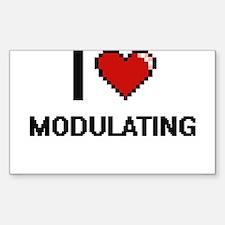 I Love Modulating Decal