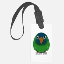 Blue Crown Conure Luggage Tag