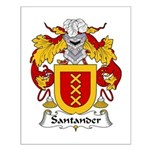 Santander Family Crest Small Poster