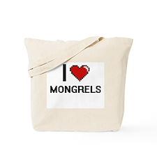 I Love Mongrels Tote Bag