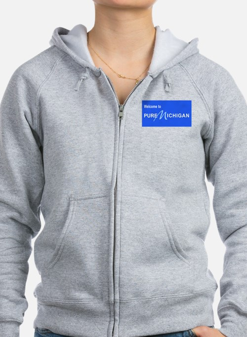 Welcome to Pure Michigan Zip Hoodie