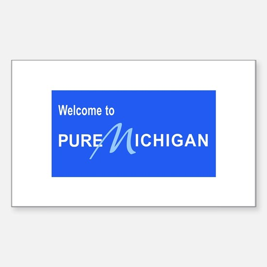 Welcome to Pure Michigan Sticker (Rectangle)