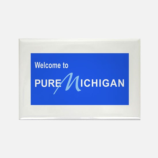 Welcome to Pure Michigan Rectangle Magnet