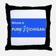 Welcome to Pure Michigan Throw Pillow