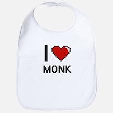 I Love Monk Bib