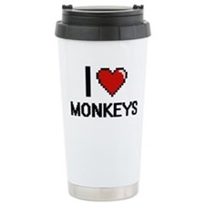 I Love Monkeys Travel Mug