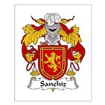Sanchiz Family Crest Small Poster