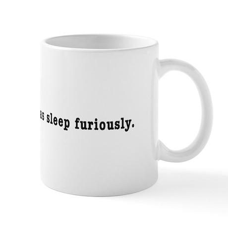 "Chomsky ""Colorless Green"" Mug"