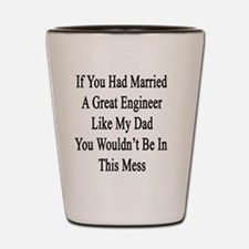 If You Had Married A Great Engineer Lik Shot Glass