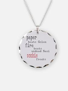 Paper Beath Golem 1 Necklace