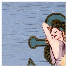 nautical vintage pin up girl Poster