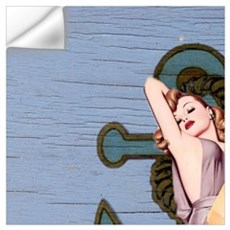 nautical vintage pin up girl Wall Decal