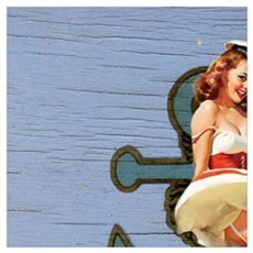 nautical sailor pin up girl Poster