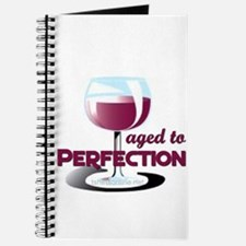 Aged to Perfection Wine Glass Journal