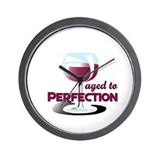 Aged to Perfection Wine Glass Wall Clock