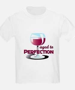 Aged to Perfection Wine Glass Kids T-Shirt